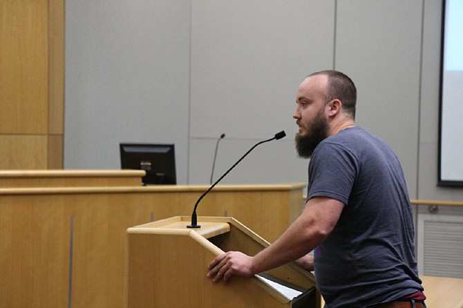 Andrew Kelley, co-founder of the Aslin Brewery Company, testified in favor of allowing his company to operate a food truck on their property without time limits.