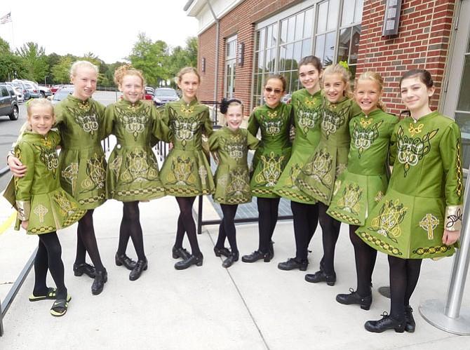 The Boyle School of Irish Dance outside the Sherwood Center.