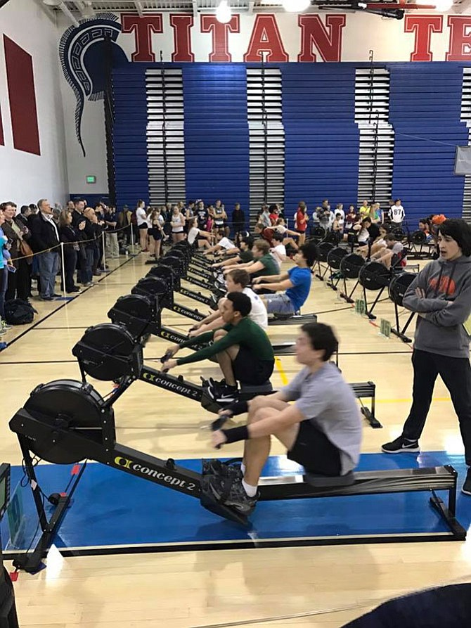 Athletes at the 2017 Erg Sprints