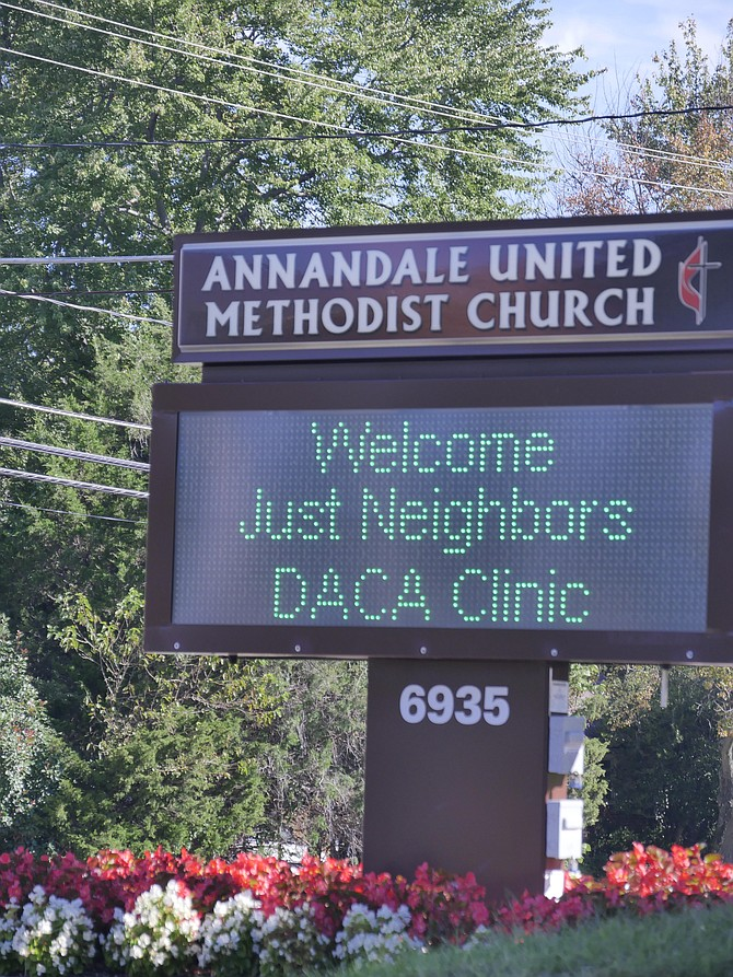 Just Neighbors Ministry held its last DACA Clinic at the Annandale United Methodist Church on Sept. 23. DACA was repealed on Sept. 5.