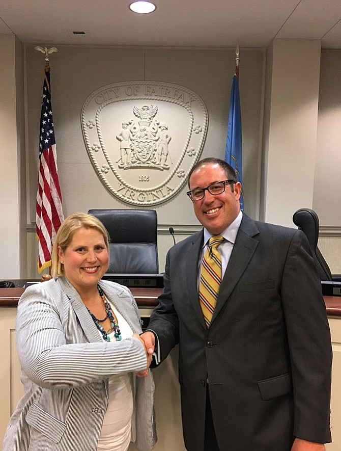 The Fairfax City Council welcomed Jennifer Passey as its newest member Tuesday night and thanked outgoing Councilman Dan Drummond for his service.