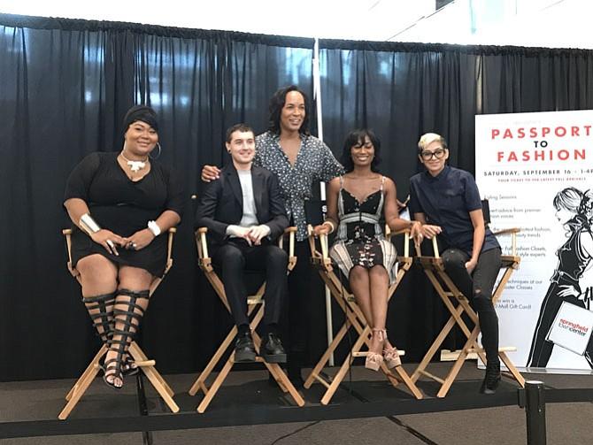 From left: Janelle Ziegler, Matt Slade, Maggy Francois, Emily Villalva, and Paul Wharton (back) in a panel photo.