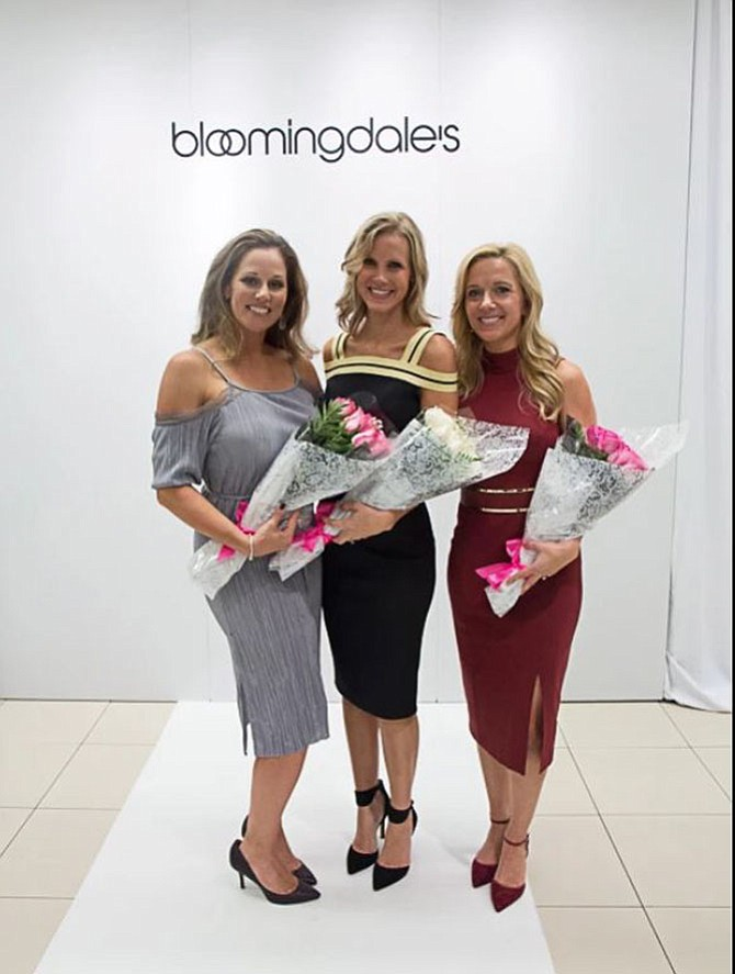 Melissa Larson, co-chair of the event; Melissa Mollet of NBC4, emcee of the show; and Erin West, co-chair of the event; were given roses for their contributions.