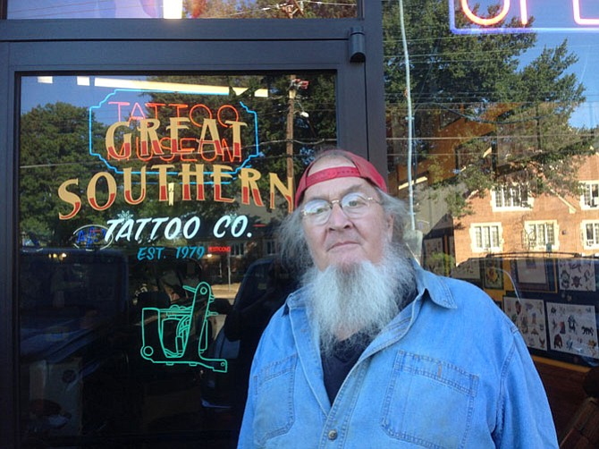 Charlie Parsons has local roots and has been at Southern Tattoo for 18 years.