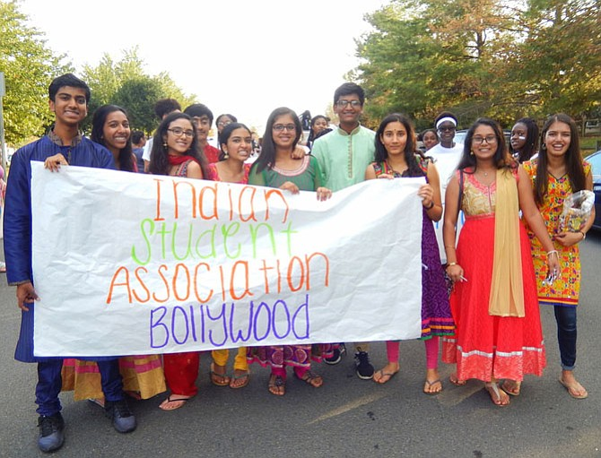 Members of the Indian Student Association.