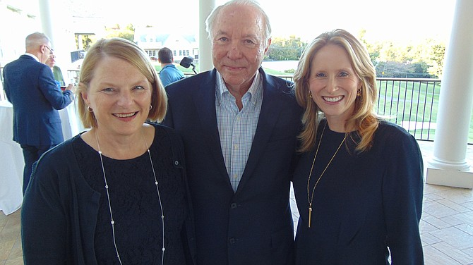 Karen Briscoe, Jerry Huckaby and Lizzy Conroy of the HBC Group at Keller Williams McLean celebrate their 40th Anniversary on Tuesday, Oct. 3, 2017, at the Washington Golf & Country Club in Arlington.