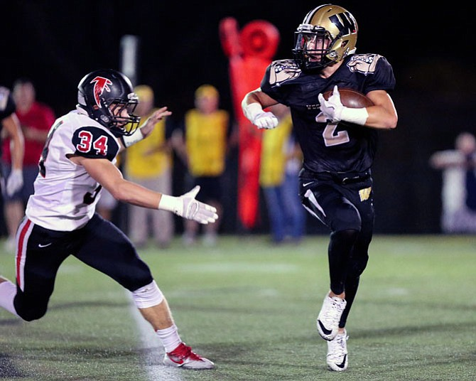 Taylor Morin caught 6 passes for 49 yards and a TD in the Homecoming game on Oct. 6 against Madison. Morin also intercepted a ball in the end zone with 27 seconds left in the game. The final score was Westfield 10, Madison 6.