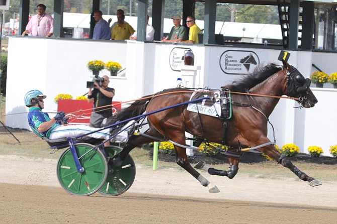 Caviart Ally, owned by Judy and Buck Chaffee of Vienna, won the $163,950 Jugette Stakes final for 3-year-old female pacers in Delaware, Ohio.