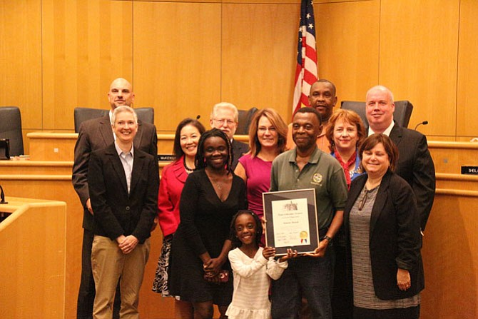 "Kwame Amoah, engineering inspector for the town's public works department, was given a certificate of appreciation to recognize his more than 17 years of work for the town and for ""outstanding contributions to the quality of life in the Herndon community."" Nana Amoah Gyaami Ofori Panin III (Amoah's Ghanaian name) needed to retire from his position so he can return to his home country of Ghana in West Africa to fulfill his duties as a member of the City of Kumasi Council of Elders in the Ashanti Region of Ghana."