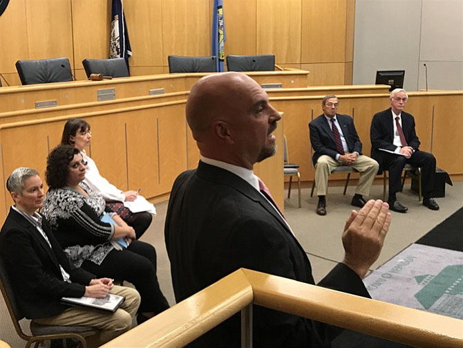 "At the Town Hall Meeting on the Proposed Agreement for Downtown Redevelopment, Herndon Town Manager Bill Ashton said, ""We are looking for a vibrant, active, first class, downtown Town Center."""