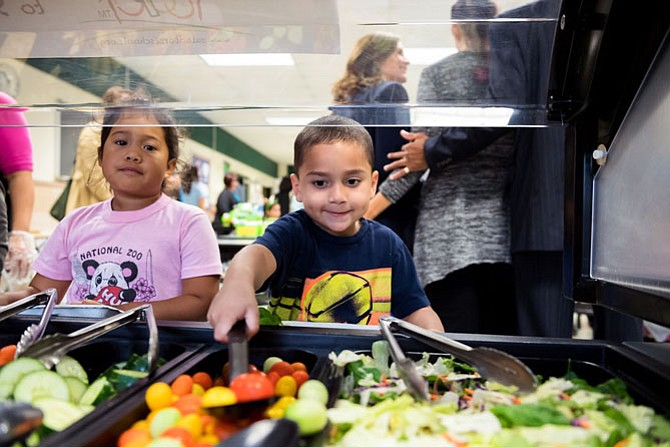"It is the goal of the FCPS Food and Nutrition Services to install ""Real Food For Kids"" salad bars at every elementary school by 2019."