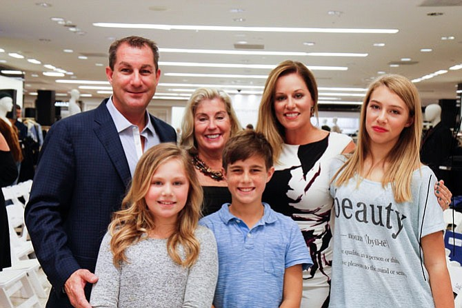 Three generations joined the effort to raise funds for child victims of abuse. Claudia Manoogian, SafeSpot Board member of McLean, celebrated with her son's family who all modeled in the fashion show – Keith and Melissa Larson of Vienna and their children, Marbella, Ryland and Vyanna.