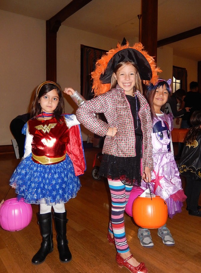 Striking poses are (from left) Simryn Amato, 6; Adele Ojala, 7; and Analucia Terrazas.