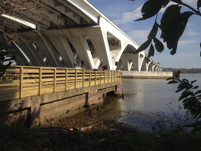 The new dock will provide a place to fish from under the Woodrow Wilson Bridge.