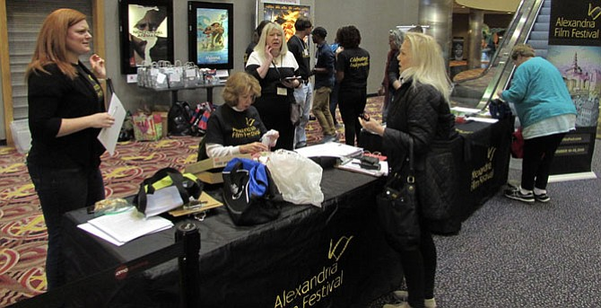 Alexandria Film Festival volunteers work at last year's event.