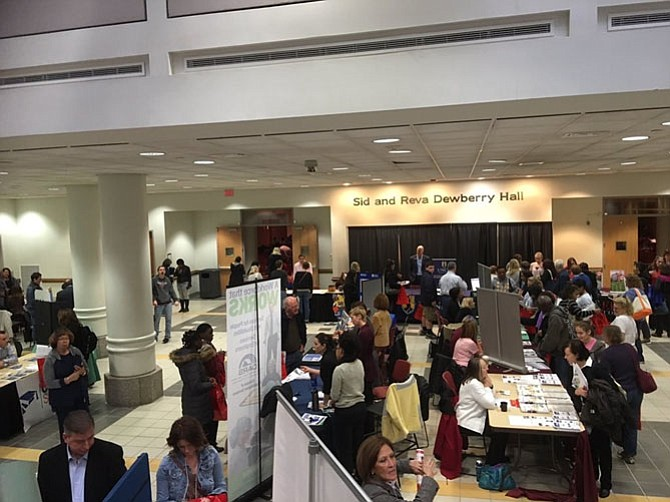 The resource fair booths from Future Quest at GMU in 2015.