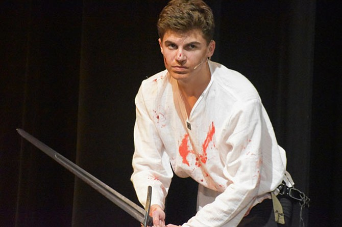 "Nick Hovis in Madison High School's production of ""Macbeth."""