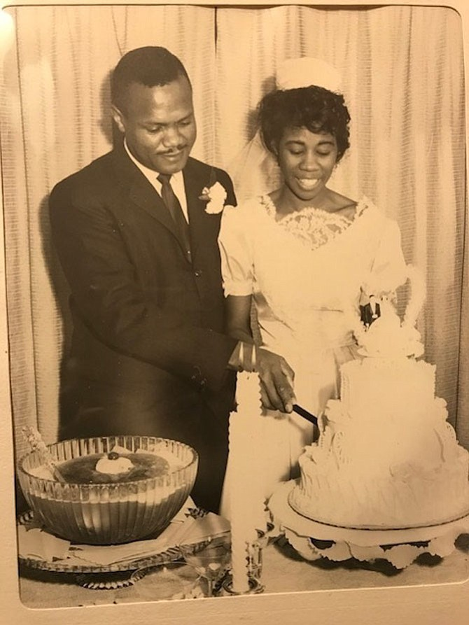 Former vice mayor Lionel Hope and his wife Emma on their wedding day, March 6, 1963.