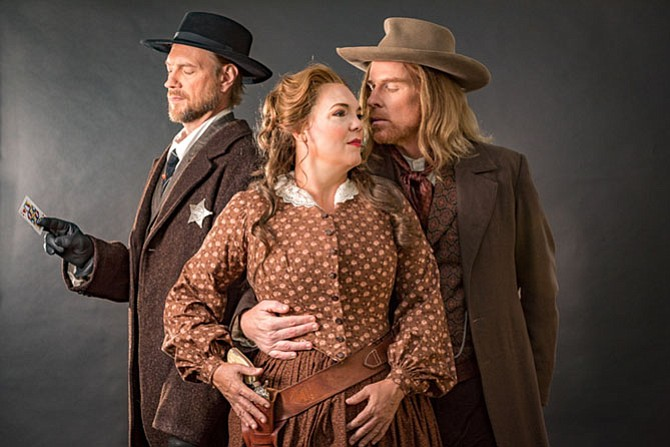 "From left: Mark Walters, Jill Gardner and Roger Honeywell in ""The Girl of the Golden West."""