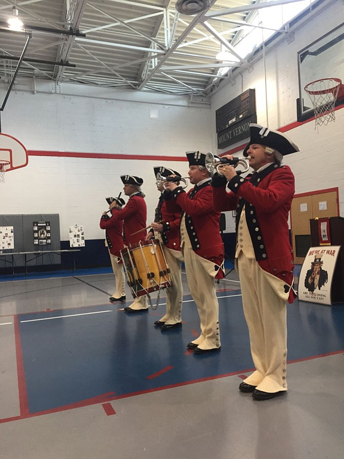 The Old Guard Fife and Drum performs at the Mount Vernon Community Center's Veterans Day ceremony.