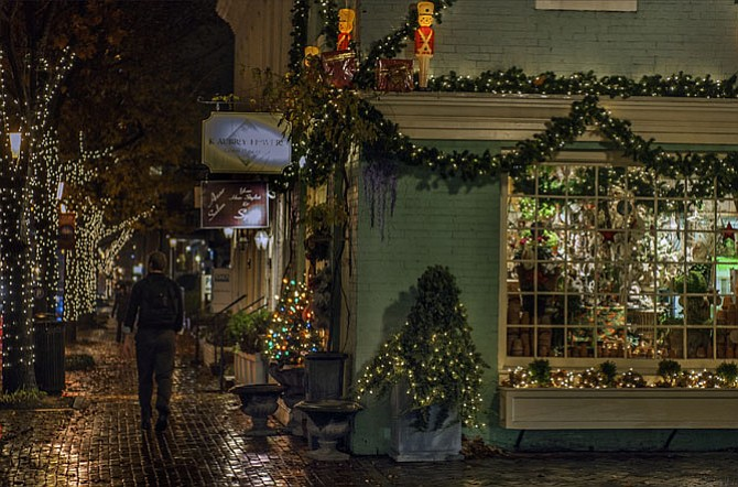 Shops along King Street are ready for the holidays.