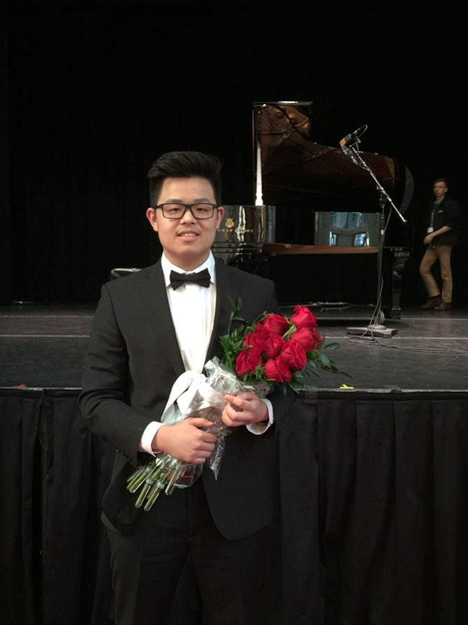Harry Wang after his performance at The Kennedy Center.