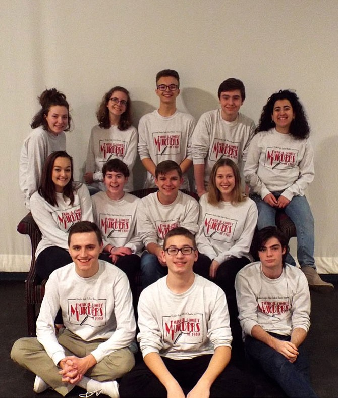 Cast members are (top row, from left) Chryne Lillo, Natalie Lambert, Ian Kirkland, Parker Stephens and Aya Nassif; (middle row, from left) Kira Kerr, Bridget Baucum, PJ Pavot and Hannah Runner; and (bottom row, from left) Hayden Giles, Sebastian Newlin and Max Minichiello.