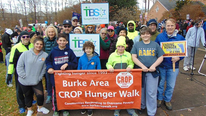 The starting line for the Burke/Fairfax CROP Hunger Walk at Fairfax Presbyterian Church on Sunday, Nov. 19, 2017 in the City of Fairfax.