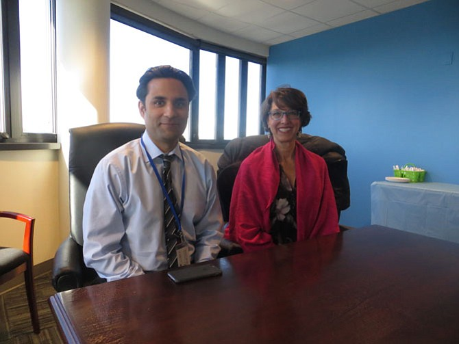 Dr. Basim Khan (left) and Susan Abramson