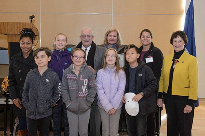 Cherry Run Elementary students and teachers were recognized for creating a video history of Burke.