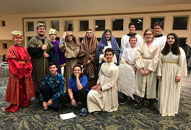 St. James Episcopal Church Youth Group will present a living Nativity this weekend.