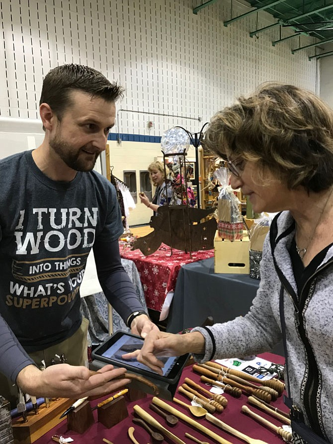 """I like working with wood. I have salvaged and repurposed almost everything on my table. I can probably tell you a story about each item that I've made. The Herndon Holiday Arts & Craft Show is a wonderful show with great people.""