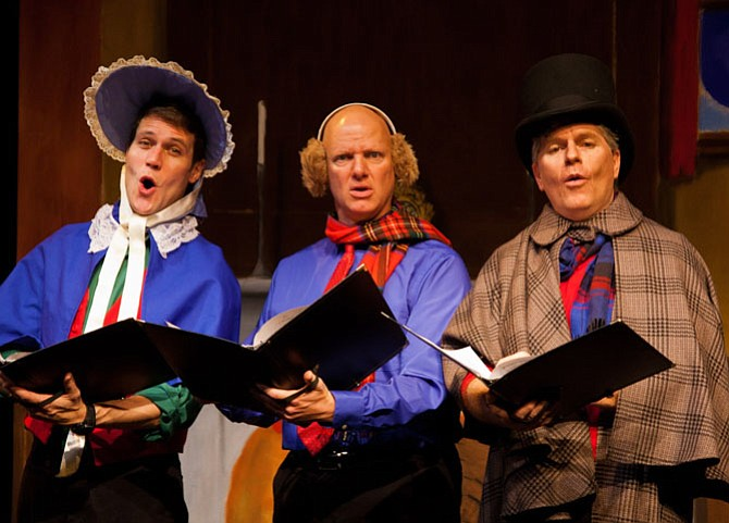 "Reduced Shakespeare Company performing ""The Ultimate Christmas Show (abridged)."""
