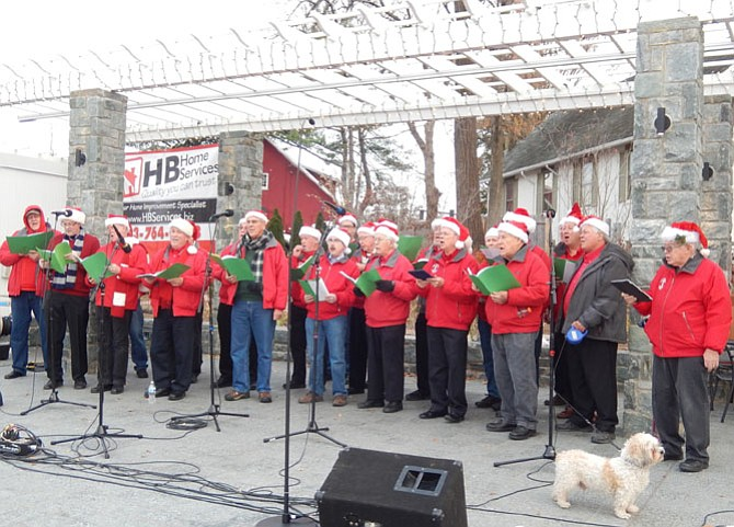 The Fairfax Jubil-Aires sing Christmas carols in barbershop harmony.