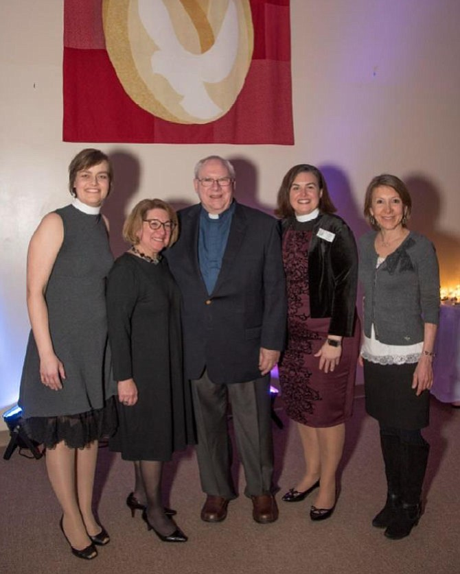 From left: Rev. Heidi Eickstadt, Rabbi Amy R. Perlin, D.D., Rev. Thomas Bailey, Rev. Meredith Lovell Keseley, Rabbi Laura Rappaport, D.D.