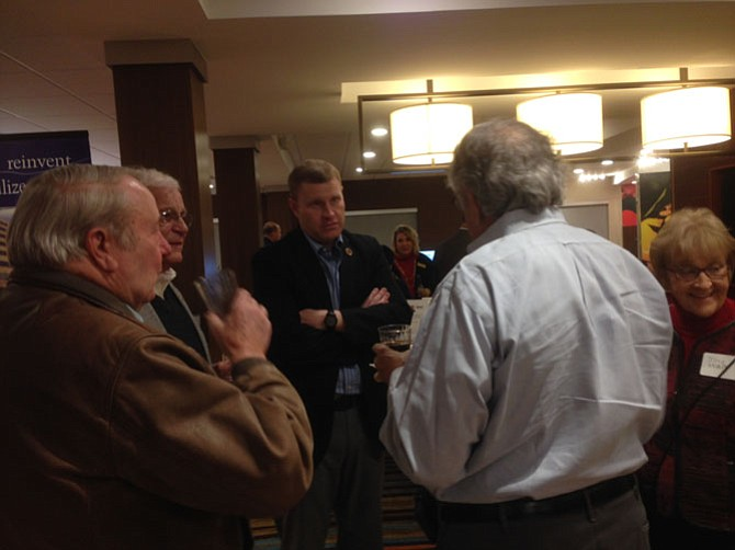 Lee District Supervisor Jeff McKay (D-Lee) hears the concerns of others in the Richmond Highway corridor.