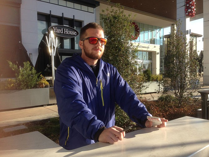 At Springfield, Hayden Basse monitors the valet spaces and uses a cell phone feature to retrieve cars when needed.