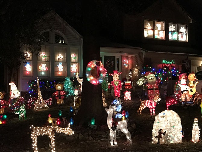 "The home at 1327 Summerfield Drive in Herndon won the ""Christmas Village"" Award during the 2017 ""Dress Up Herndon for the Holidays"" decoration contest."