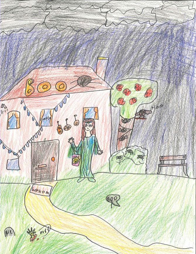 Children's Edition 2017: Willow Choi, Grade 3, Trick or Treating, drawing