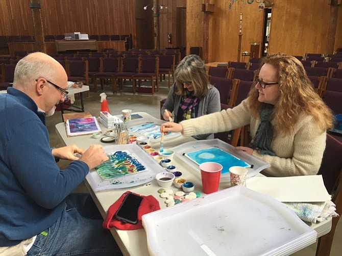 "Sylvain Richard, Pat Keithly and Eileen Myers attended a ""Healing Arts"" event at the Center for Spiritual Deepening at St. Aidan's  Episcopal Church in Alexandria. Such activities can bring peace and joy during a hectic holiday season."