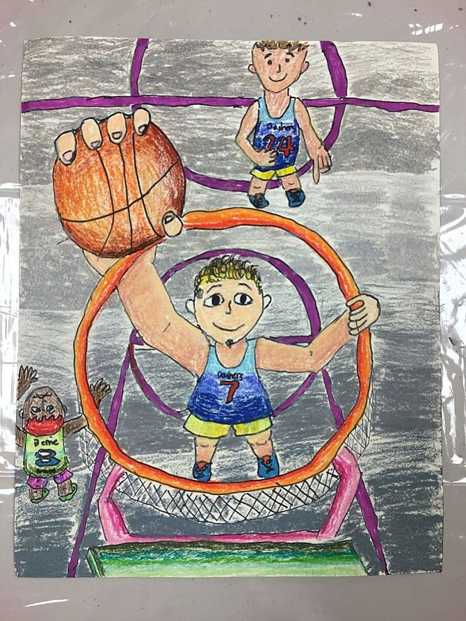 Children's Edition 2017: Basketball by Caitlin Houston, age 9, 4th Grade, Greenbriar West Elementary School