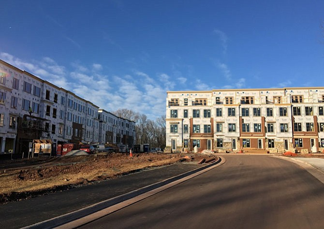 Townhouse construction is underway at the Preserve at Westfields.