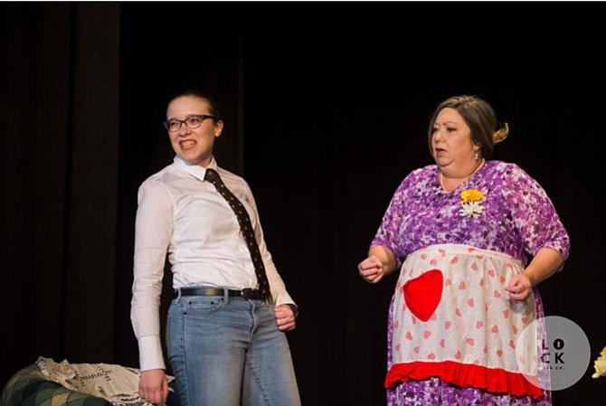 """Sarah Cusenza stars as Ginny and Sally Cusenza as Amanda in """"For Whom the Southern Belle Tolls."""""""