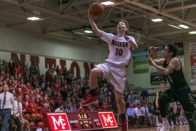 Junior guard Matias Prock led McLean with 15 points for the night.