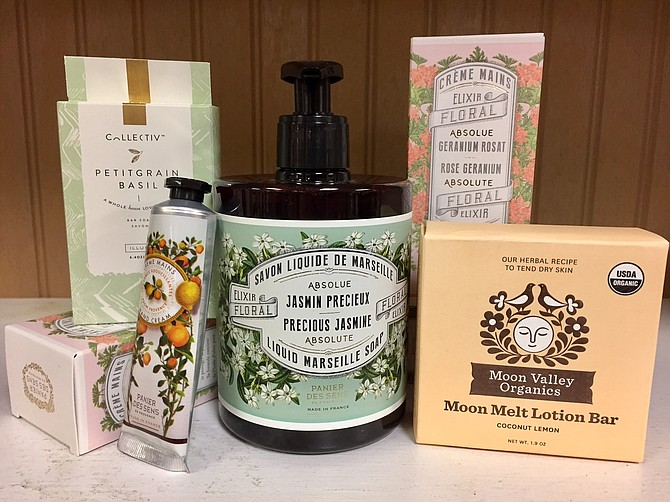 Accessories like Moon Melt Lotion Bars by Moon Valley Organics at The Picket Fence in Burke might appeal to those who want to create to a spa at home.