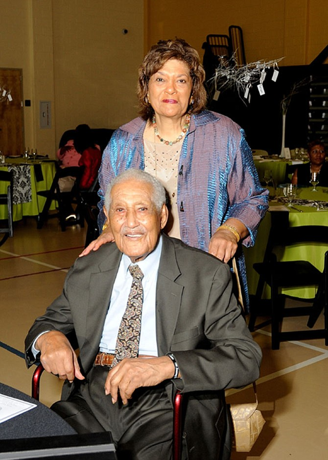 Ferdinand T. Day and his daughter, Gwen Day-Fuller, in 2014.