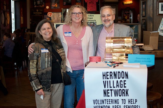 From left: Rosemary Kendall, Jenny Phipps, and Charles Marts are board members of Herndon Village Network, a nonprofit organization that provides their members with the transportation they need through the generosity and service of volunteer drivers.