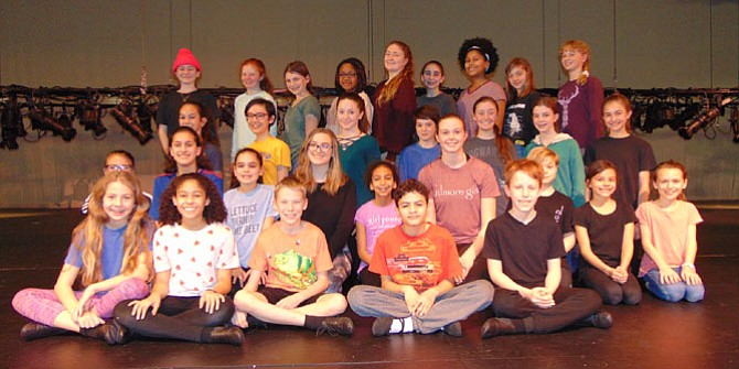 "The cast of Encore Stage & Studio's production of Disney's ""The Lion King Jr.,"" which runs from Feb. 16-25 at Kenmore Middle School."