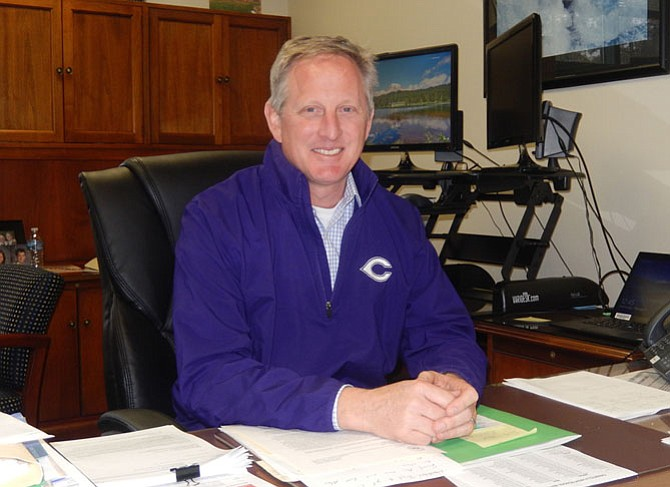 Chantilly High Principal Scott Poole wants to encourage students to find what inspires them.