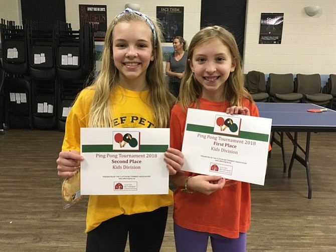 Children Under 12 finalists: Adeline Betz (first place) and Annabelle Betz (second place).